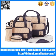 High capacity multifunction 5ps set nappy mummy baby diaper bag online shopping