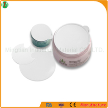 Easy peel off one piece induction PE foam seal liner for cosmetic containers
