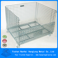 warehouse metal welded wire meash cage