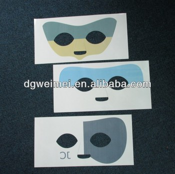 water based half face customise mask tattoo for kids