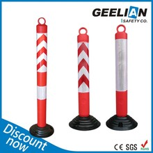 Blowing Reflective Delineator Post Crash Barrier Post