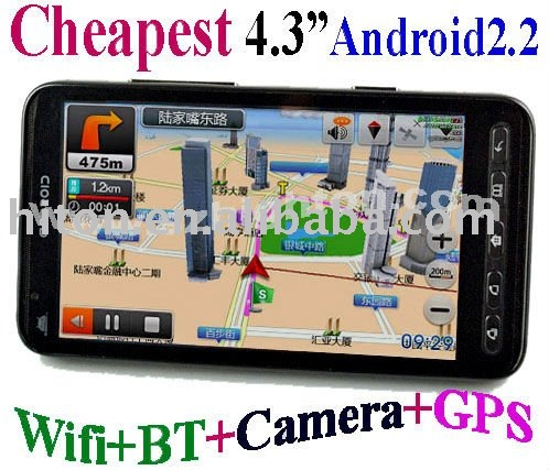 Cheapest 4inch 4 inch Android2.2 TV GPS GSM GPRS MID UMPC PDA Tablet PC Phone with 4 inch GPS GSM GPRS Android 2.2 OS