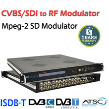 (DMB9580) ASI CVBS SDI to RF analog tv Modulator to DVB-C DVB-T
