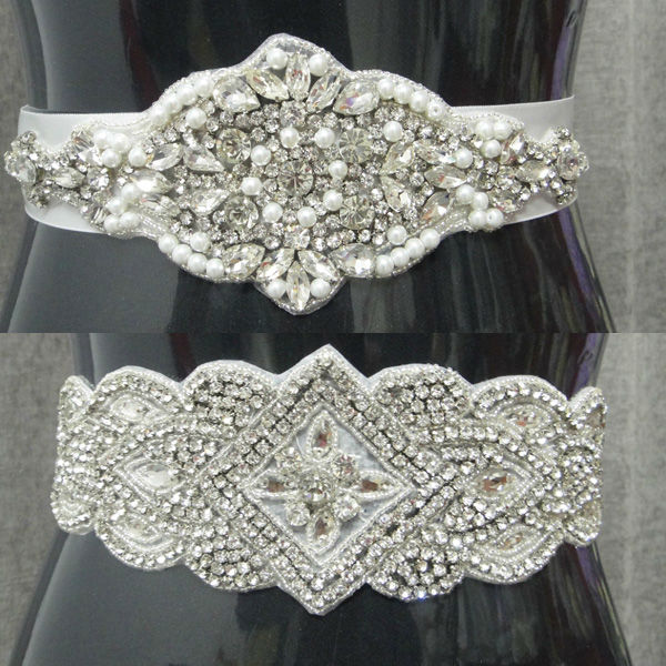 Vintage Crystal Stone Belts For Wedding Dresses