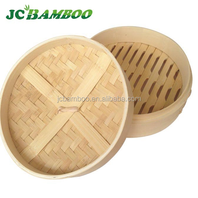 natural bamboo round Hand-made bamboo dim sum steamer with different sizes