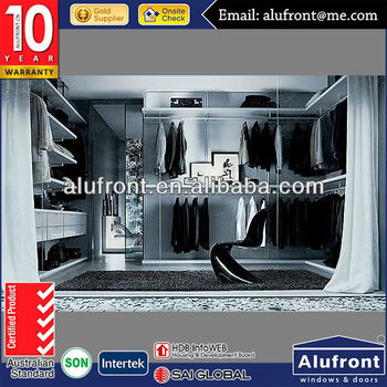 European Standard wardrobe closet,mirrored slidding wardrobe door,sliding rode door
