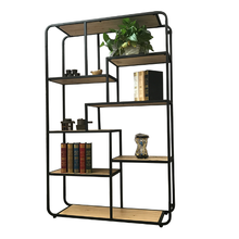Simple modern blog <strong>shelf</strong> wrought iron display stand retro Chinese bookcase living room partition storage porch cabinet