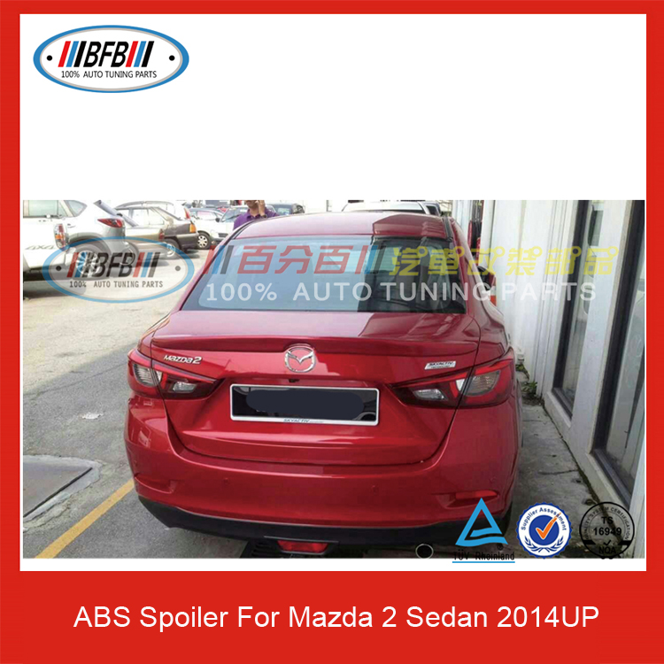 ABS Trunk Spoiler Car Rear Wing For Mazda 2 Sedan 2014UP