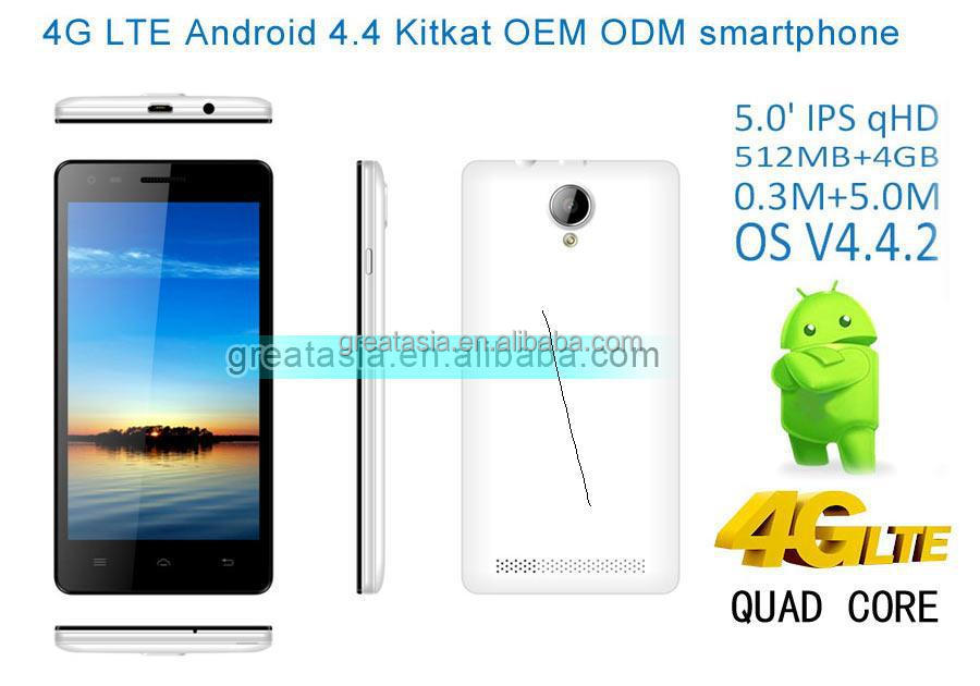 Economic 4G SMART PHONE 512 4GB Unlocked <strong>GSM</strong> 5MP A7 4G LTE Quad-Core Smartphone SPUS