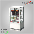 White box and plastic plate, beverage stored display showcase
