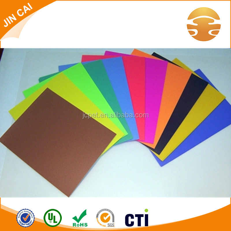 180 micron colourful A4 pvc binding cover colored rigid sheet