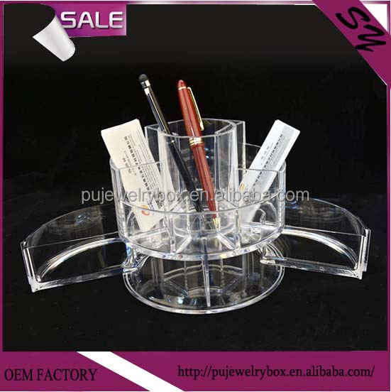 Acrylic cosmetic organizer product display stand for cosmetic