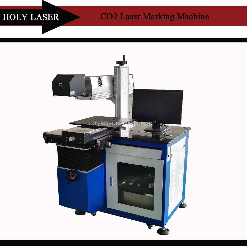 Distributor Wanted 30w 60w plastic/ cloth/ jeans /cable Co2 laser marking machine with CE