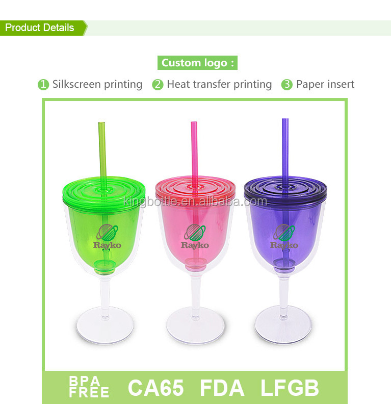 New Technology High Quality Acrylic Wine Glass Tumbler