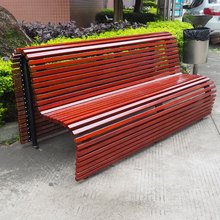 high quality modern Camphor Wood slats bench set with seat backrest for Outdoor Furniture