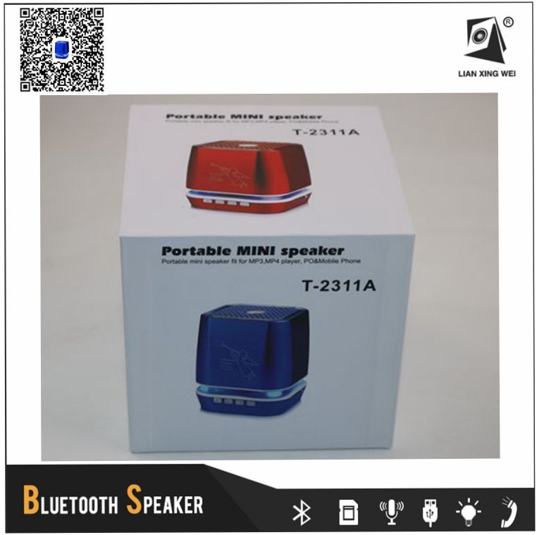 Portable Wireless Mini Bluetooth Speaker with Fm Radio Supported TF Card USB Founction T-2311A