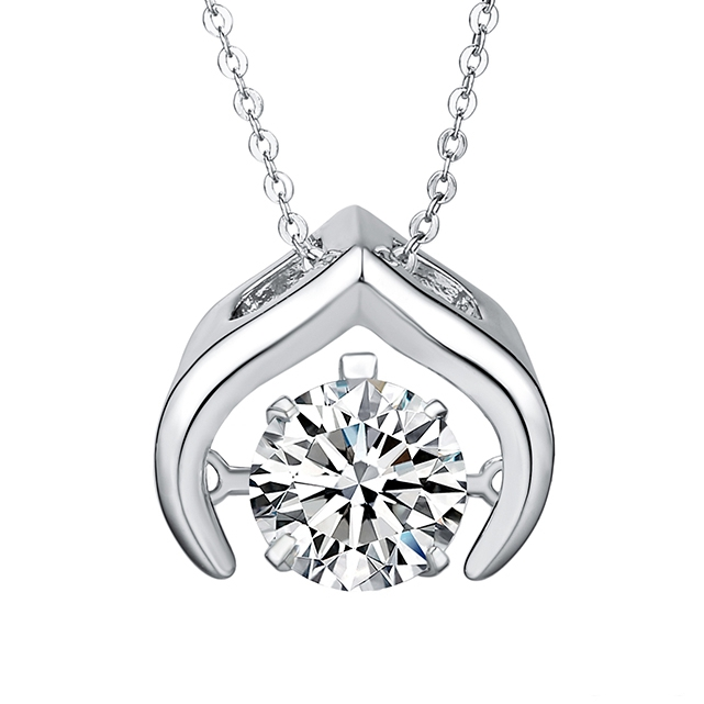 44703 Xuping Promotion Price dancing stone pendant necklace diamond <strong>jewelry</strong>, rhodium plated most popular dancing stone <strong>jewelry</strong>