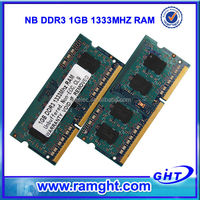 China market of electronic 64mb*8 ram ddr3 333mhz 1gb for laptop