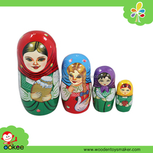 Popular wooden arts and craft, Cute nesting doll Muslin Women