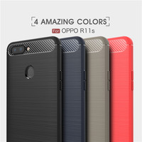 High-end phone case for Oppo R11S Carbon Fiber back cover tpu case for Oppo R11S