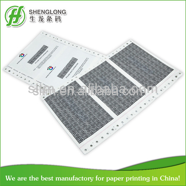 pay slip paper for bank transfer slip with secure oil