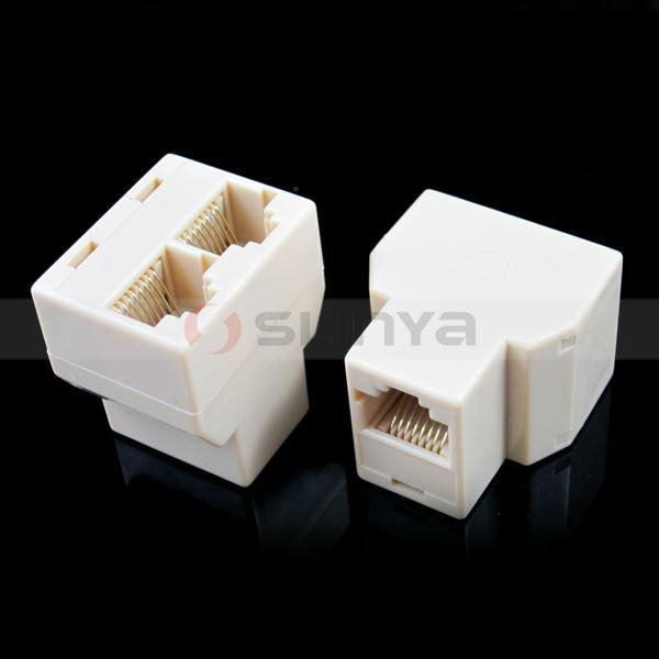 RJ45 Wifi Adapter RJ45 Network Lan Splitter Extender Connector Plug