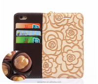 Hot Style Genuine Leather Wallet Case For Apple iPhone6 4.7inch with Lanyard