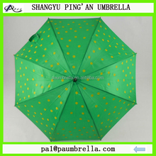 Umbrella factory yellow dot priniting straight umbrella for promotion