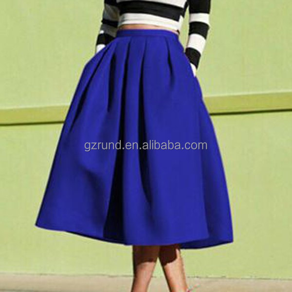 Europe Style New Trendy Solid Color Plus Size Skirt For Women