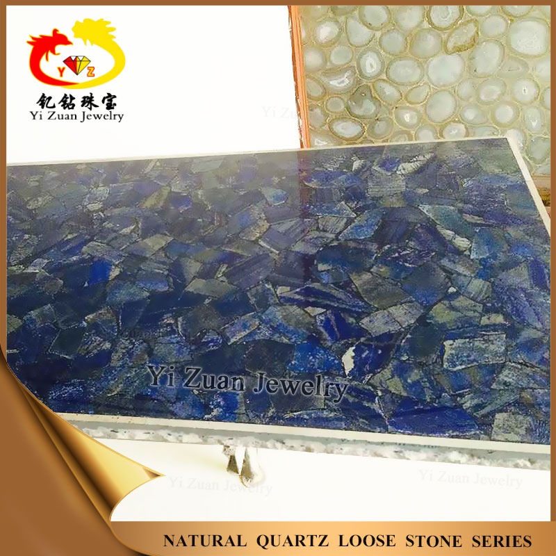Decorative craft wall lapis lazuli slab made of natural stone pieces