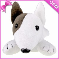 Plush, soft fabric material stuffed bull terrier toy