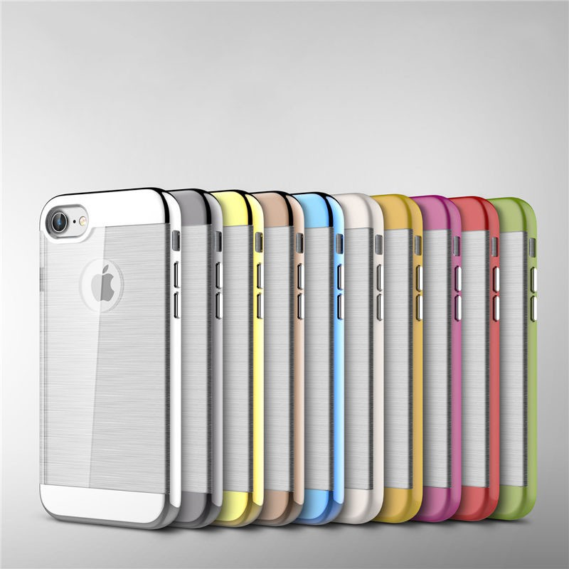 Smart Phone Back Case for iphone 7,clear electroplate plastic hard pc mobile phone case cover for iphone 7