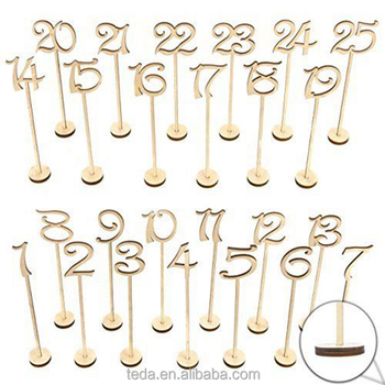 Birthday decor wooden table numbers 1-25
