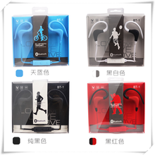 High Quality Mini Style BT-1 Ear Hook Earphone Sport Style With Volume Control And Microphone