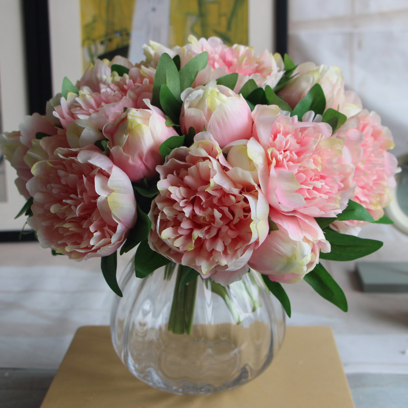 China cheap wholesale wedding decoration peony flowers artificial flowers factory