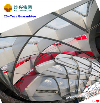 ETFE membrane structure commercial hollow for mall offer design processing and construction