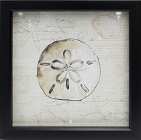 Intco PS framed decorative paper printing with shell picture