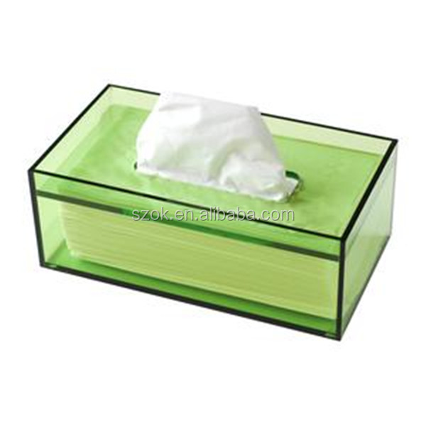 Manufacturing decorative cheap clear acrylic tissue box holder