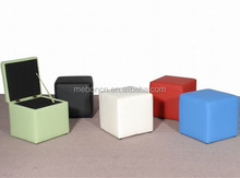 Factory Direct faux leather cube stool/storage ottoman