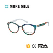 High Quality Fashion Designed Custom Acetate Eyeglasses Frames With Beautiful Pattern And Sping Hinge