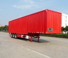 50Ton 3 axles 13 meters van transportation semi-trailer
