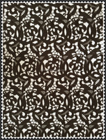 Nice black color chemical full embroidery lace fabric