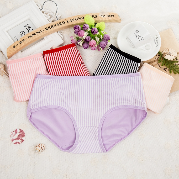 classic and simple female ladies girls sweet stripe panties
