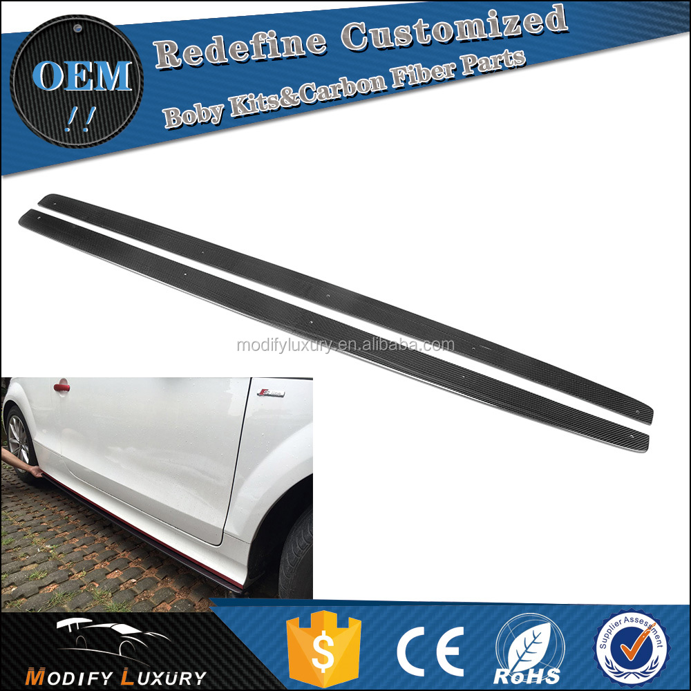 Car Carbon TTS Side Skirts Extension for Audi TTS Convertible Roadster 2008