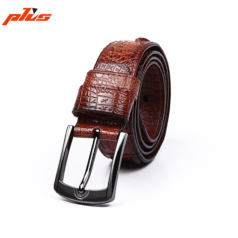 Hot Selling Products in Japan Top Grade Italy Leather Crocodile Leather Belt for man