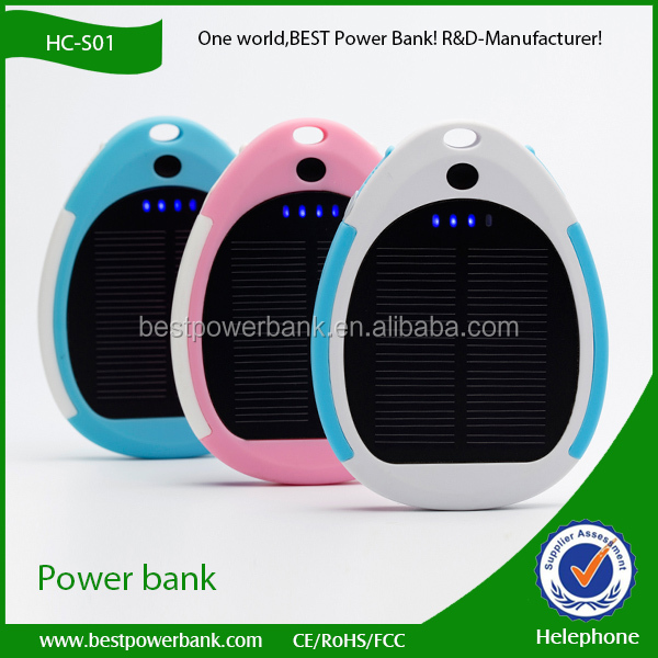 HC-S01 best selling products solar power bank 3000mah mobile phone charger