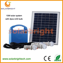 Solarbright Energy-Saving portable mini home emergency residential solar home power system with mobile charger