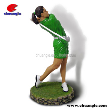 Golfer Figurine Craft Gift , Resin Golfer Statue Collectible