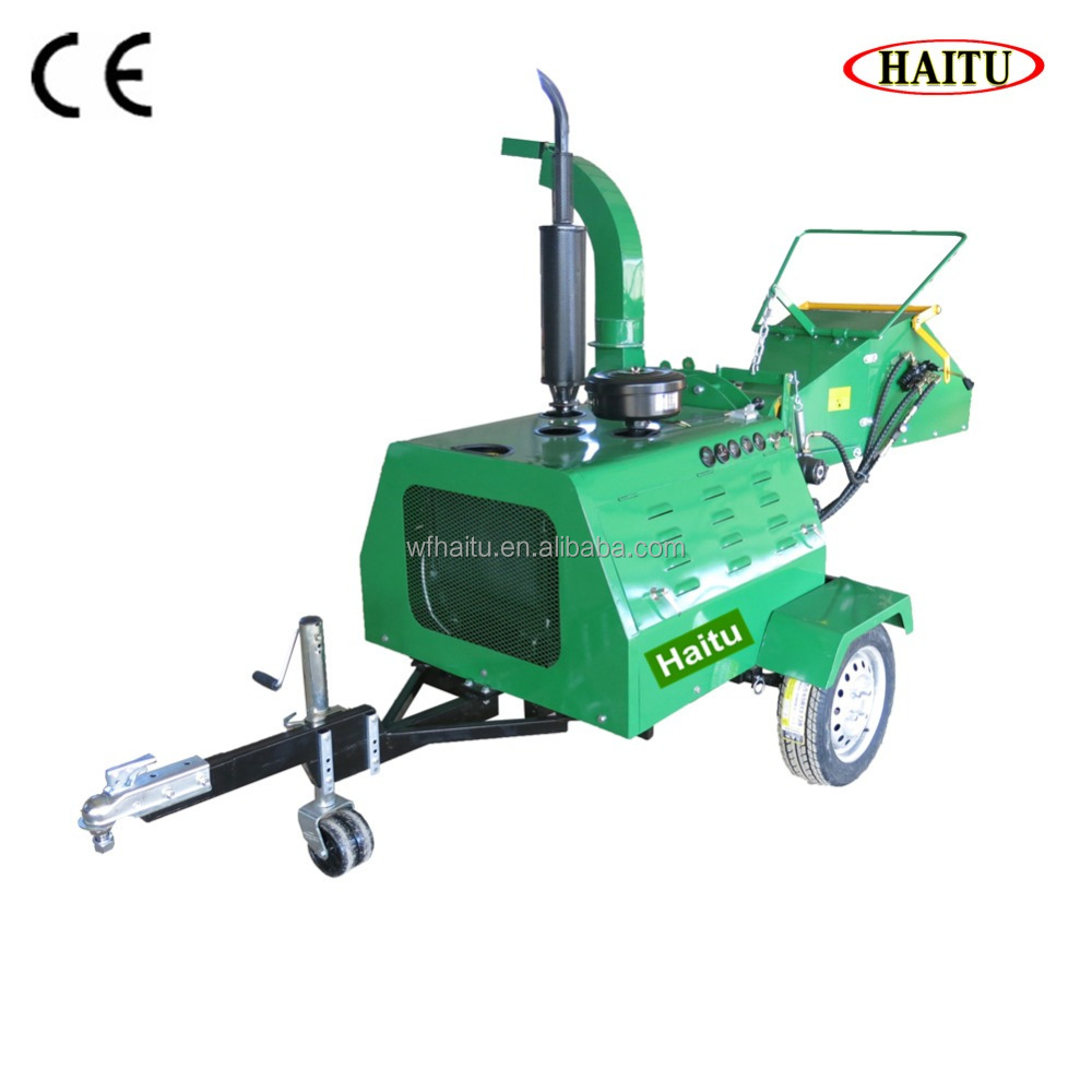 50HP Two Feed Rollers Chip Shredder Hydraulic Feed Diesel Wood Chipper Shredder