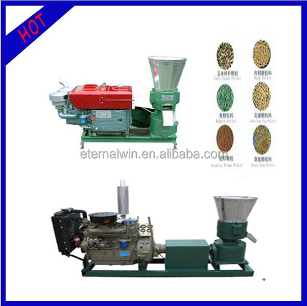 Energy saving 250-450kg per hour empty fruit bunch pellet mill